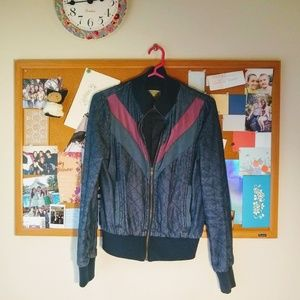 unique dark denim jacket